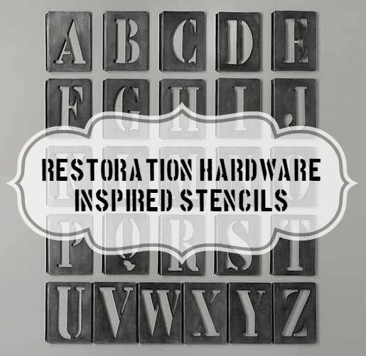 Vintage metal stencils my restoration hardware knock for Metal stencil set letters