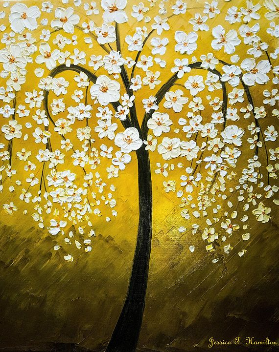 This Item Is Unavailable Etsy Cherry Blossom Drawing Tree Painting Canvas White Cherry Blossom