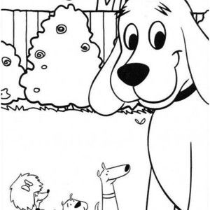 Dog Clifford The Big Red Dog And Friends Coloring Page Clifford