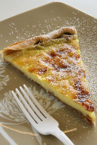 sweet Greek milk pie 'galatopita'