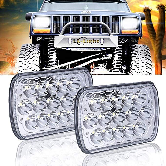 2 Pcs Dot Approved 5 X 7 6x7inch Rectangular Led Headlights For