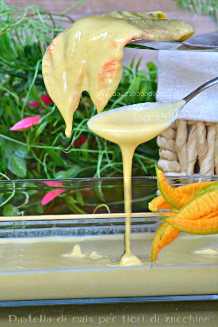 Pastella di mais per fiori di zucchine