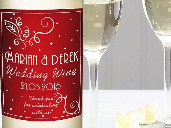 Check out this item in my Etsy shop https://www.etsy.com/listing/275546308/wine-bottle-labels-wedding-wine-bottle