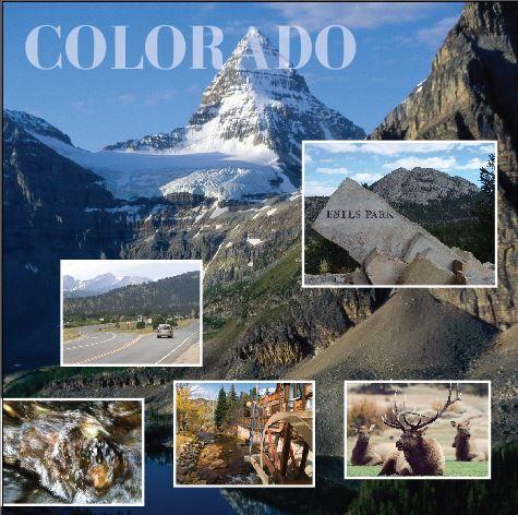 8x8 digiscrap - Estes Park, Colorado. Travel scrapbook page