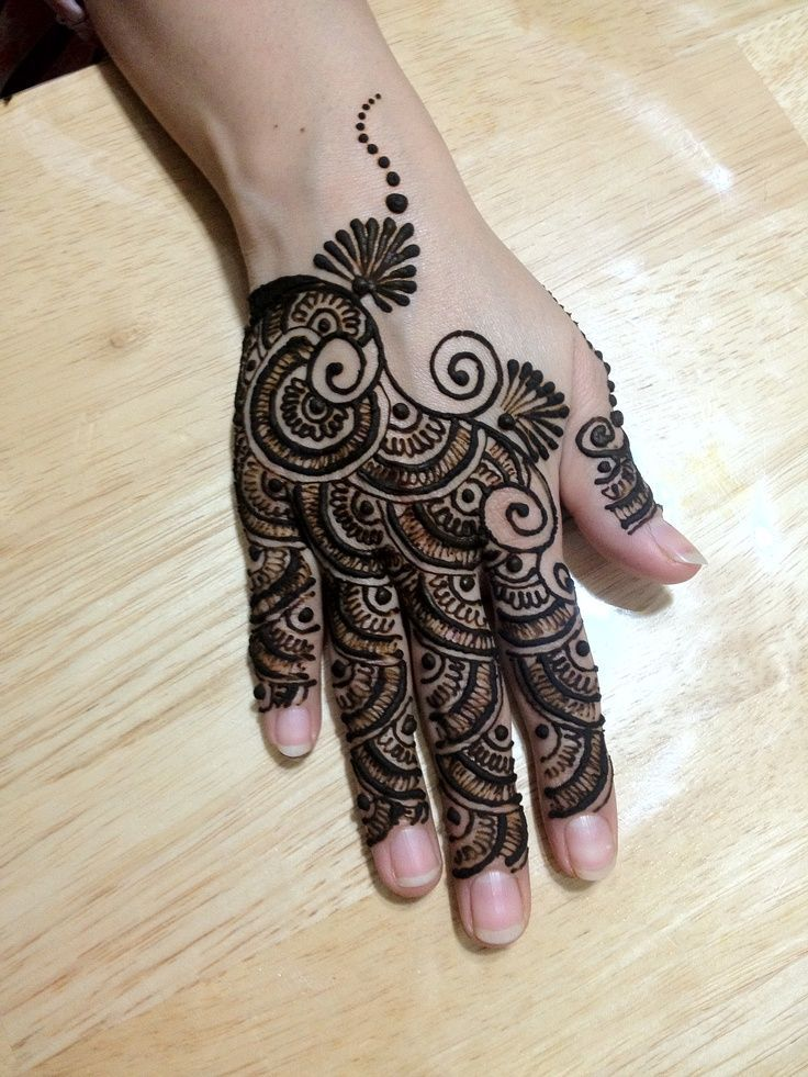 Amazing Back Hand Mehndi Designs