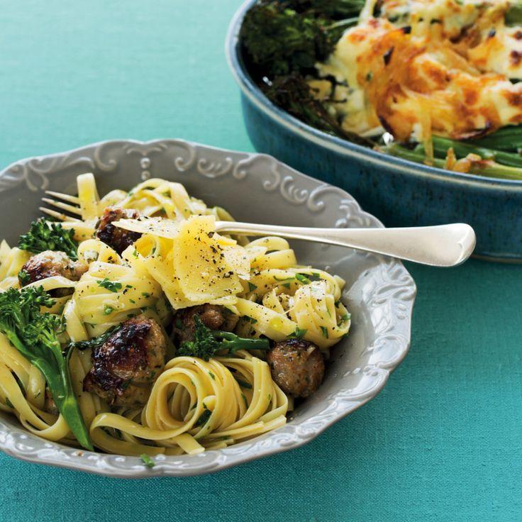 Broccoli and sausage carbonara - MyKitchen