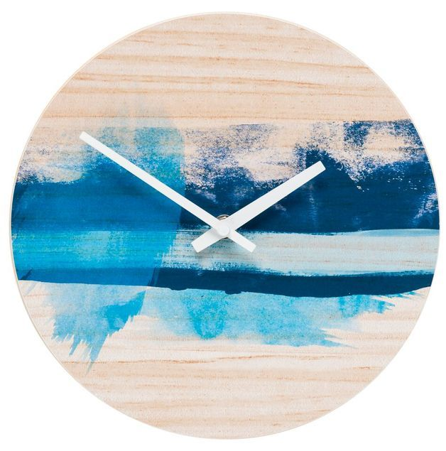 General Eclectic Clock - Blue Splash