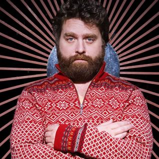 Zach Galifianakis, love the beard and the sweater!