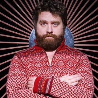 Zach Galifianakis, love the beard and the sweater!