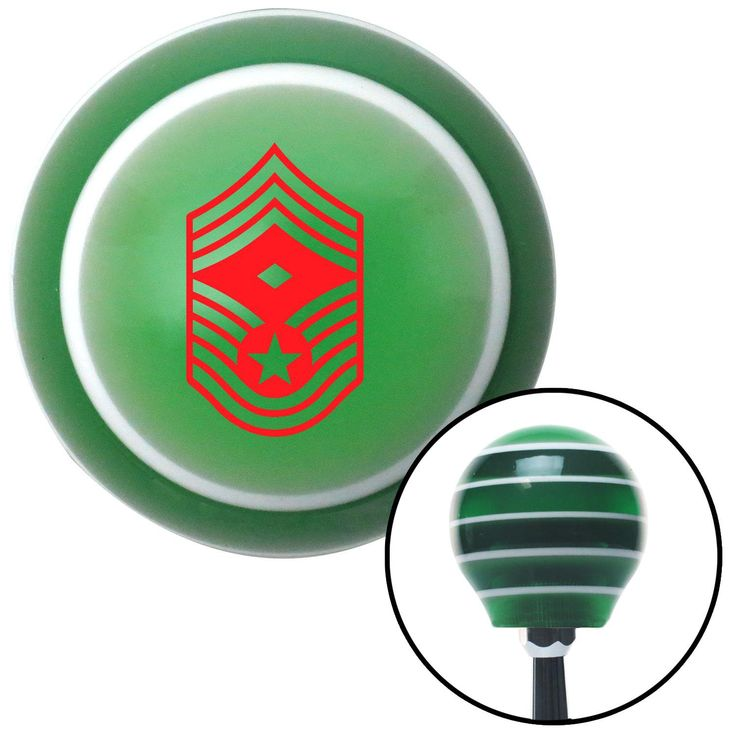 Red Chief Master Sergeant First Sergeant Green Stripe Shift Knob with M16 x 15 Insert - Give your interior the ultimate look. American Shifter's Elite(TM) series shift knobs are made from the highest quality components resulting in a superior feel on every shift. Each shift knob is designed and customized in the USA by skilled shift knob artisans who have a trained eye on every detail. American Shifters shift knobs offers an exclusive aluminum threaded insert designed to be screwed onto your…