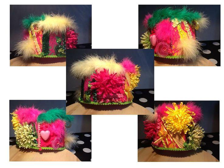 DIY Een leuk hoofddeksel, voor Carnaval 2014 in de kleuren van De Brandeliers!