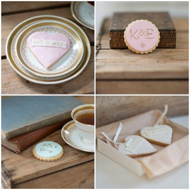 Hochzeitskekse als Gastgeschenk oder Tischdeko von Nila Holden | Hochzeitsblog The Little Wedding Corner