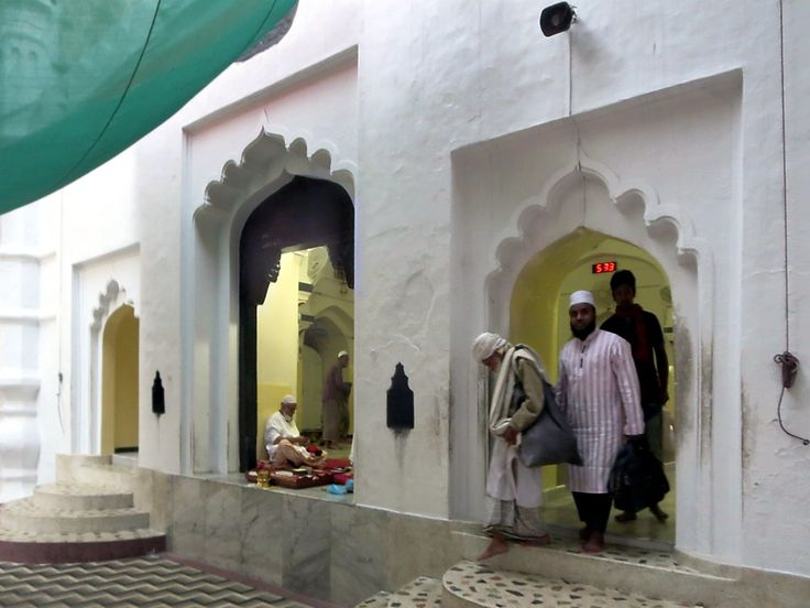 The mosque of the Shrine of Hazrat Shah Jalal in Sylhet, Bangladesh, stands next to the tomb of the 14th century Sufi saint.