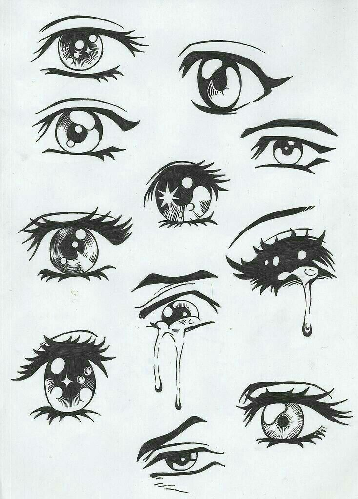 فصل تعليم رسم الانمي Easy Anime Eyes How To Draw Anime Eyes Manga Eyes
