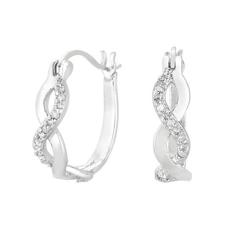 Infinity Hoop earrings - I like the sparkly stuff!