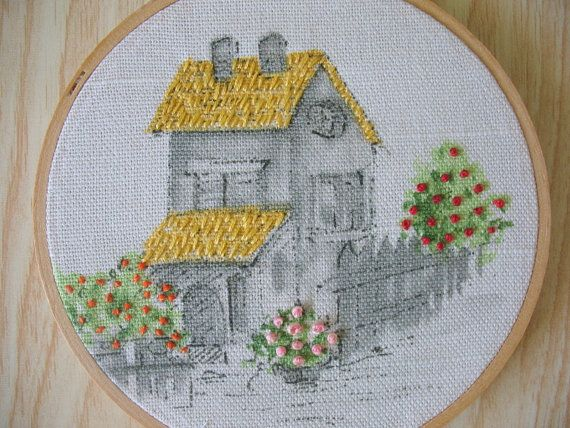 Hey, I found this really awesome Etsy listing at https://www.etsy.com/listing/193902708/house-in-a-hoop-embroidery-hoop-art-wall