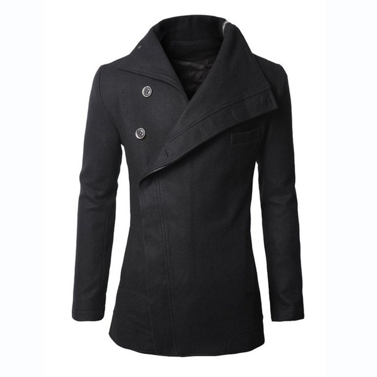 >> Click to Buy << Men's Overcoat Single-breasted Wide-lapel Winter long trench Coat Jacket Black 4 Sizes Free shipping #Affiliate