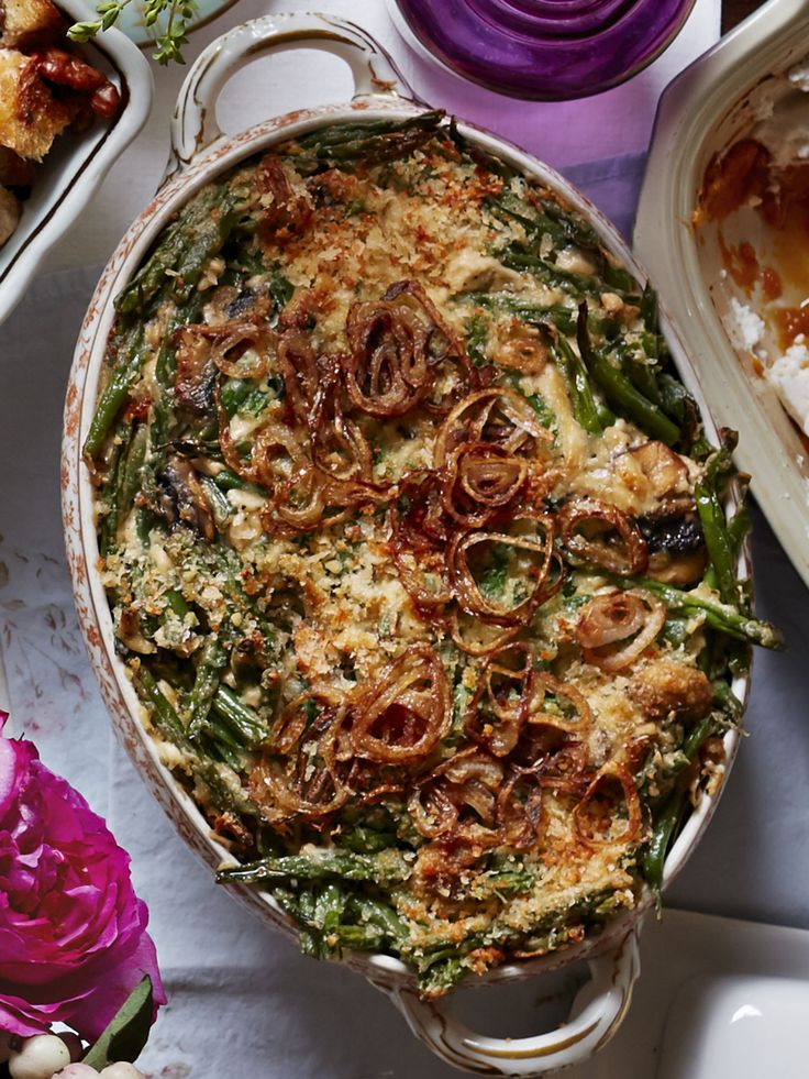 Green Bean Casserole with Fried Shallots  - CountryLiving.com