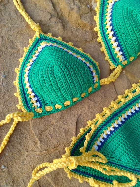 crochet bikini Viva Brazil Crochet Vintage by GoodMoodCreations