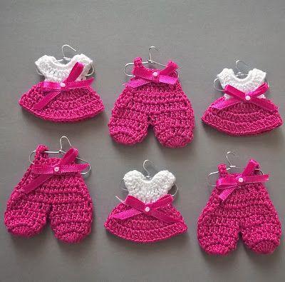 Ideas para el hogar: Tutorial: recuerdos de baby shower a crochet