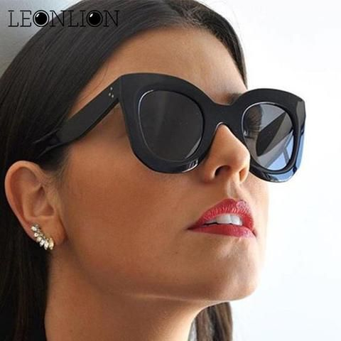 606064b6acf LeonLion 2018 Leopard Cat Eye Sunglasses Women Designer Luxury Man Women  Sun Glasses Classic Vintage
