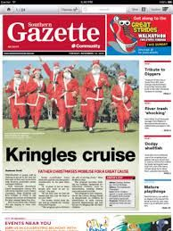 """Northern Gazette"" and using text over photos"