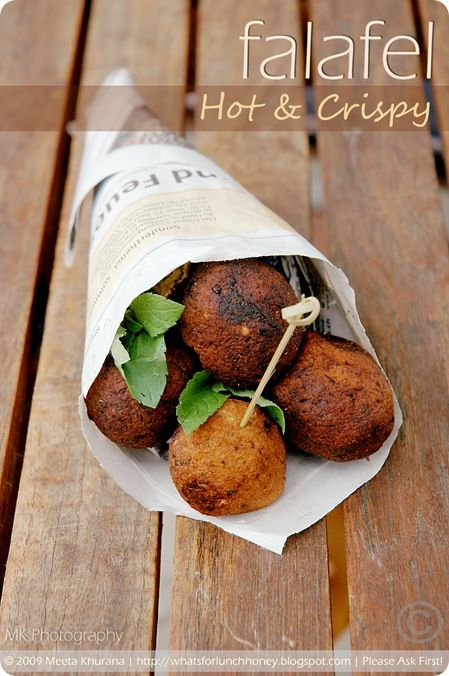 ... Egyptian falafel - I wish America was more hip to fava bean falafel
