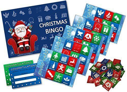 Christmas Party Game Bingo Xmas Stocking Filler 20 Player