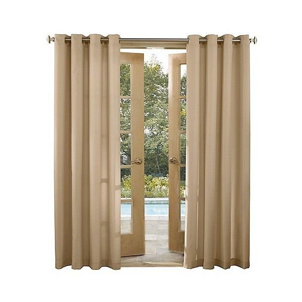 Rodham UV Protectant Indoor/Outdoor Curtain Panel Linen ($16) ❤ liked on Polyvore featuring home, home decor, window treatments, curtains, linen, target curtain panels, patio curtains, target curtains, linen window panels and linen panels