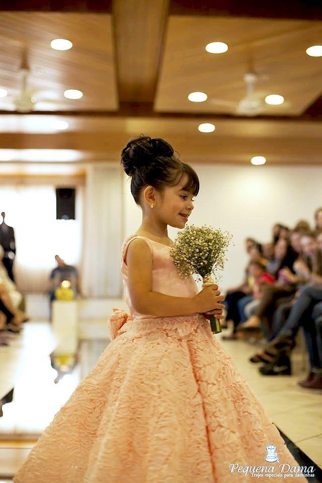 Ideias de Vestidos para Damas de Honra   Blog Site da Noiva -  Vestido Daminha Salmão – Pequena Dama