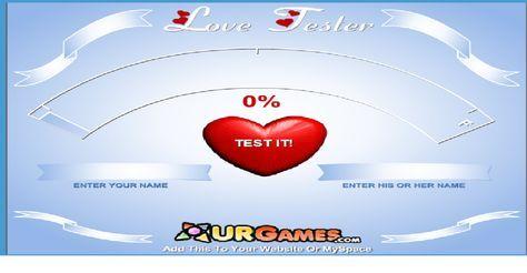 Your Love Test :Cette calculatrice de l'amour va t'aider à trouver la personne qui te correspond le plus. Entre ton prénom et celui de ton amoureux(se) et appuie sur Coeur.
