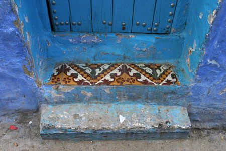maison marrakech: Moroccan Sky Blue Doors