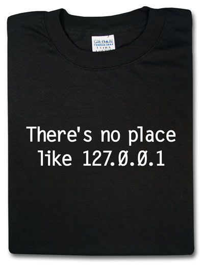 ThinkGeek :: There's no place like 127.0.0.1