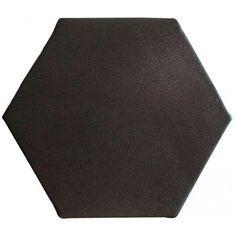 Carrelage tomette hexagonale noir-brun style artisanal HE0811007 (avec images) | Carrelage ...