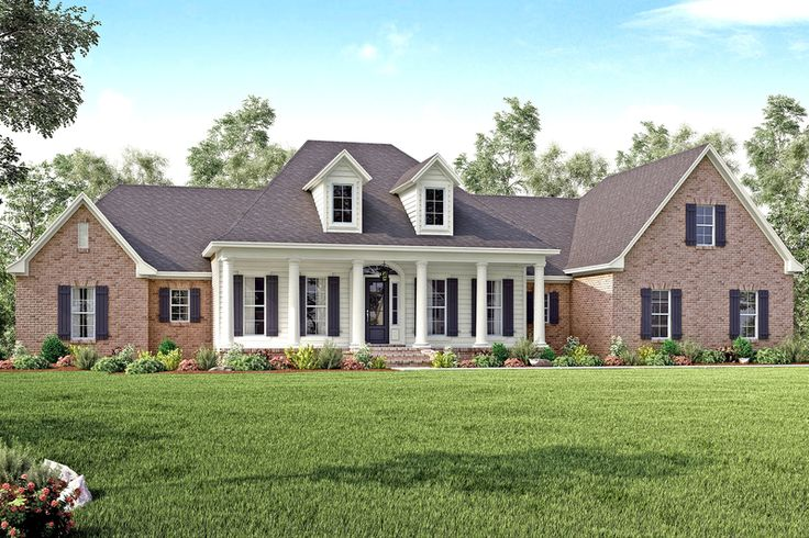 Country Style House Plan - 4 Beds 3.5 Baths 3194 Sq/Ft Plan #430-135 Exterior - Front Elevation - Houseplans.com