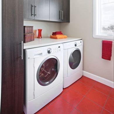 Un espace pimpant pour salle de lavage - Salle de bain - Inspirations - Décoration et rénovation - Pratico Pratique