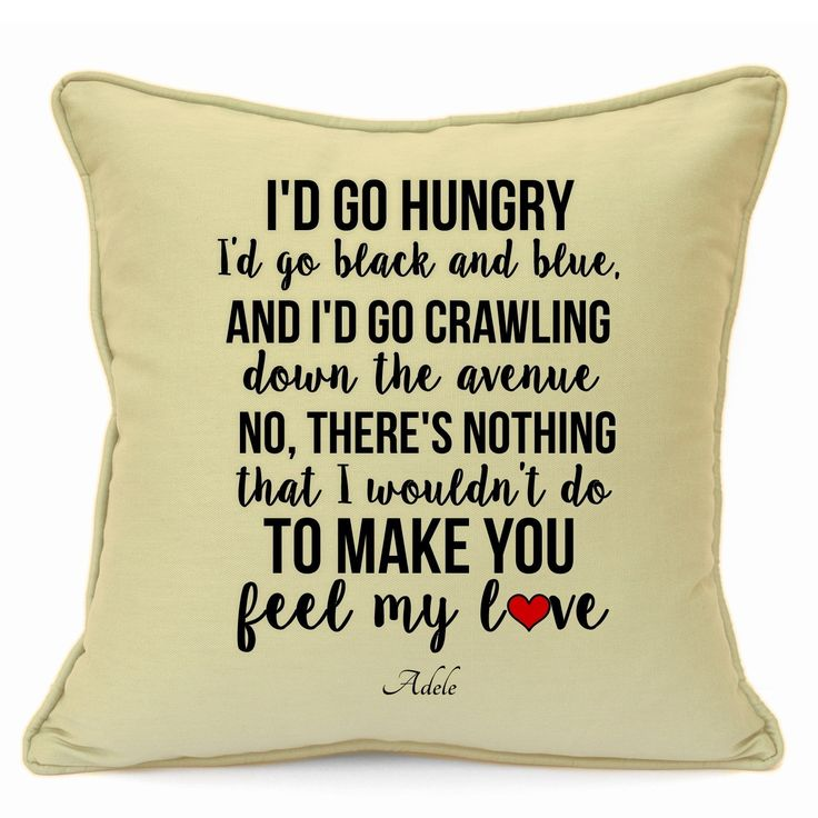 """Adele Valentines Day Wedding Anniversary Birthday Romantic Presents Gifts Ideas For Her Him Wife Husband Boyfriend Girlfriend Couples Home Decorative Handmade 18"""" Cushion WITH INFILL  Available on: https://www.amazon.co.uk/dp/B01N0XF68J  #Songs #Music #Love #Gifts #Handmade #Vintage #GiftIdeas #Personalised #ImransGiftShop"""