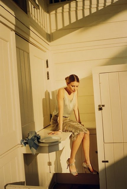 Photographed by Tom Craig and styled by Bay Garnett, featuring model Dree Hemmingway for Vogue UK June 2011.