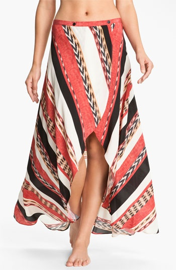 ViX Swimwear 'Angola June' Silk Cover-Up Skirt available at #Nordstrom