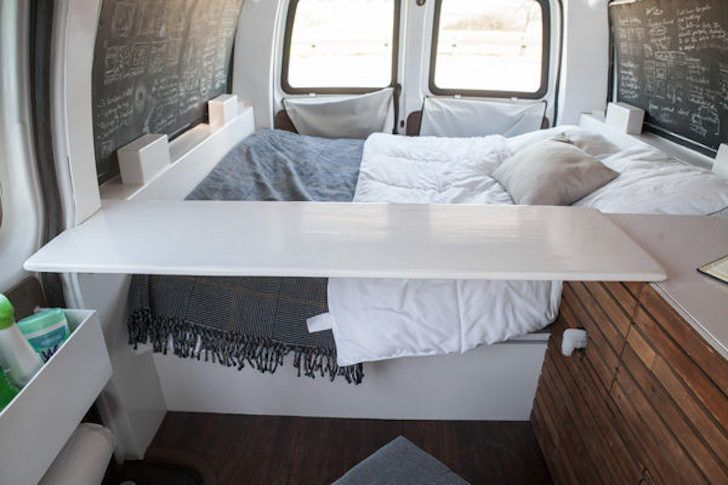 Well-Driven 2003 Chevy Cargo Van Converted To Elegant Living