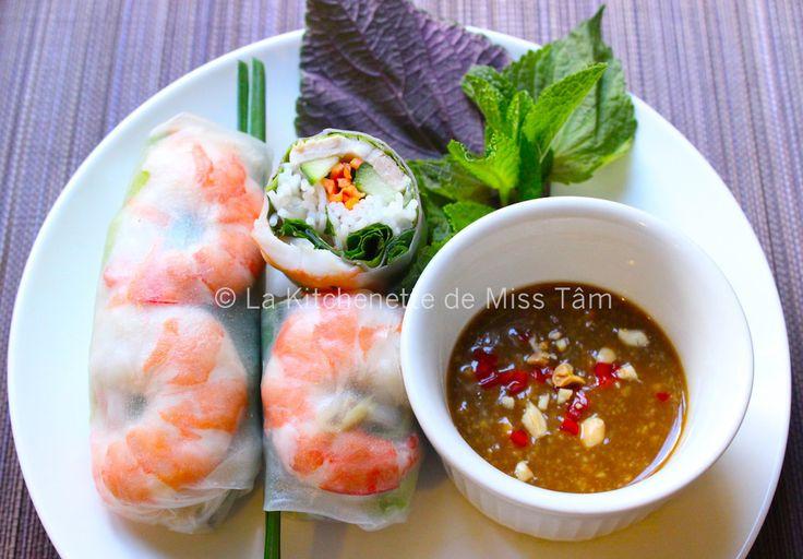 Vietnam : Rouleaux de printemps (ou d'été) / Gỏi cuốn - La kitchenette de Miss TâmLa kitchenette de Miss Tâm