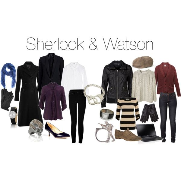Outfits inspired by Sherlock and Watson.