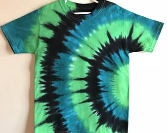 Image result for boys tie dye blue and green