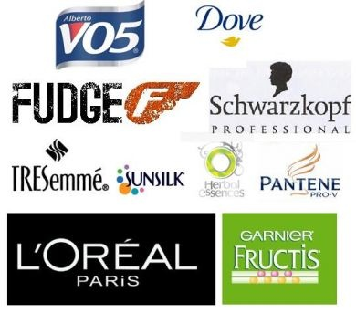 some very popular hair product logos hair products we
