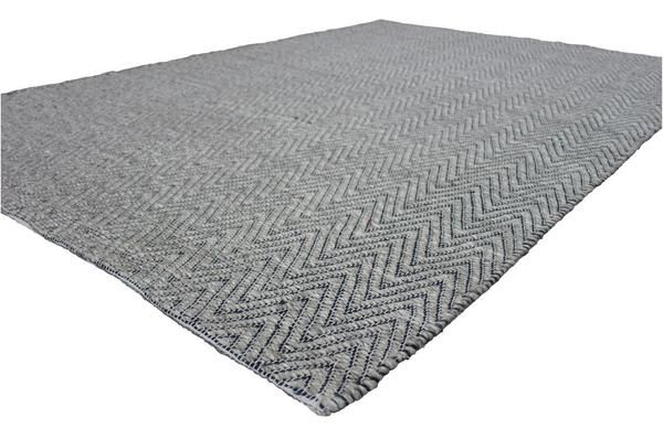 A classic chevron patterned rug such as this one will add a sophisticated new look to your floors: Atlantis Charcoal and Grey Flatweave Herringbone Chevron Wool Rug