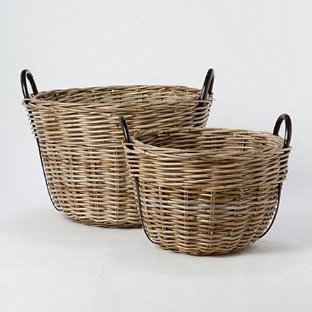 Terrain Rattan Riverside Basket  #shopterrain// I'm obsessed and I know it.