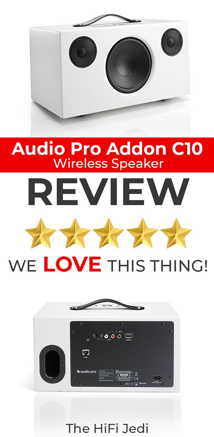 We test and review the Audio Pro Addon C10 - one of the best wireless/bluetooth speakers we have ever tried.  Beats Bose, Sonos and more - This one is a must listen! CLICK to read the full article From The HiFi Jedi