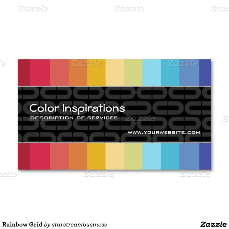 Rainbow Grid Double-Sided Standard Business Cards (Pack Of 100)