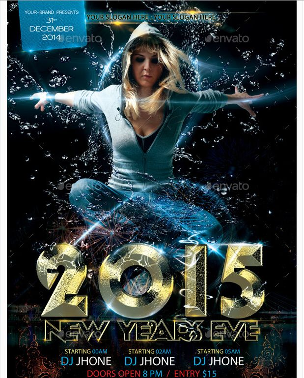 26 best New Year Flyer Template images on Pinterest Party flyer - new year brochure template