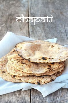 Chapati 100% integral na frigideira